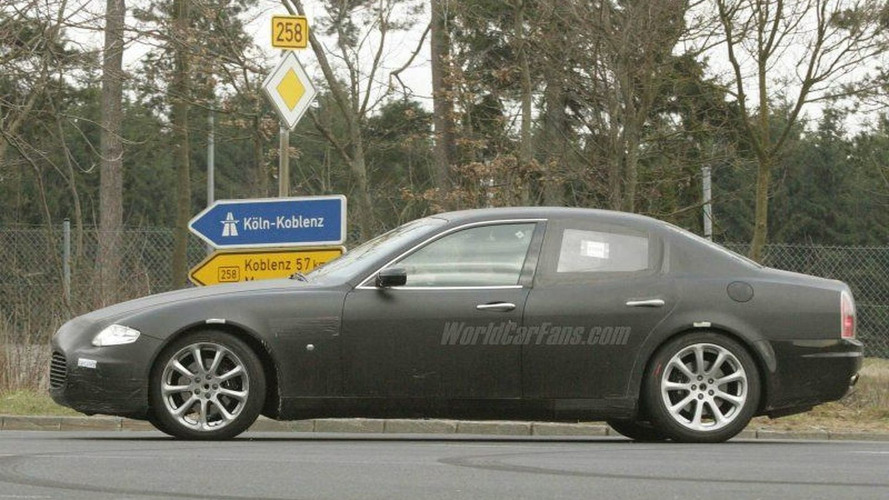 Maserati Quattroporte Coupe Spy Photos