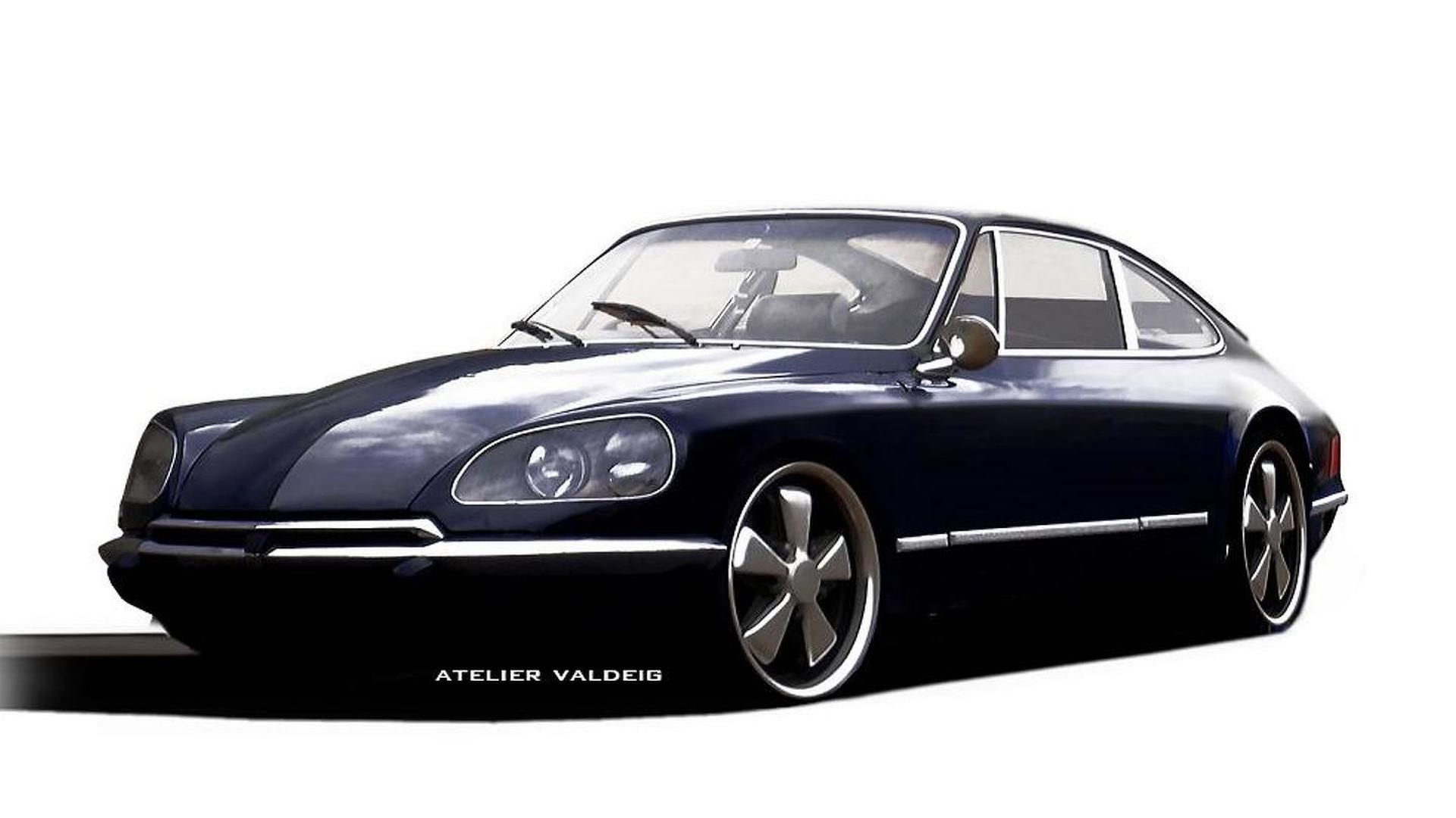 Porsche Citroen 911 DS rendered the other way around