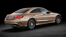Mercedes-Benz CLC-Class rendering based on the C-Class surfaces online
