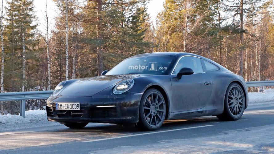 Porsche spied testing next 911 in the daylight
