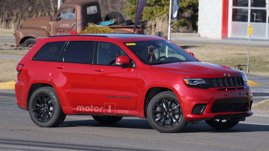 Jeep Grand Cherokee Trackhawk engine spy shots