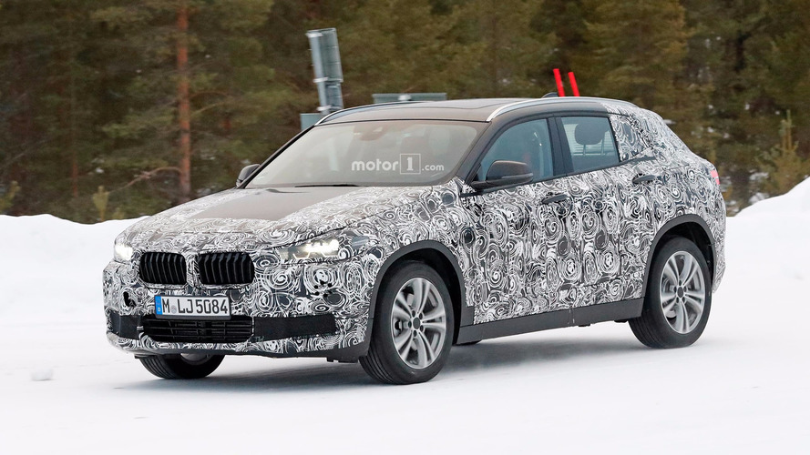 BMW X2 spied testing in a winter wonderland