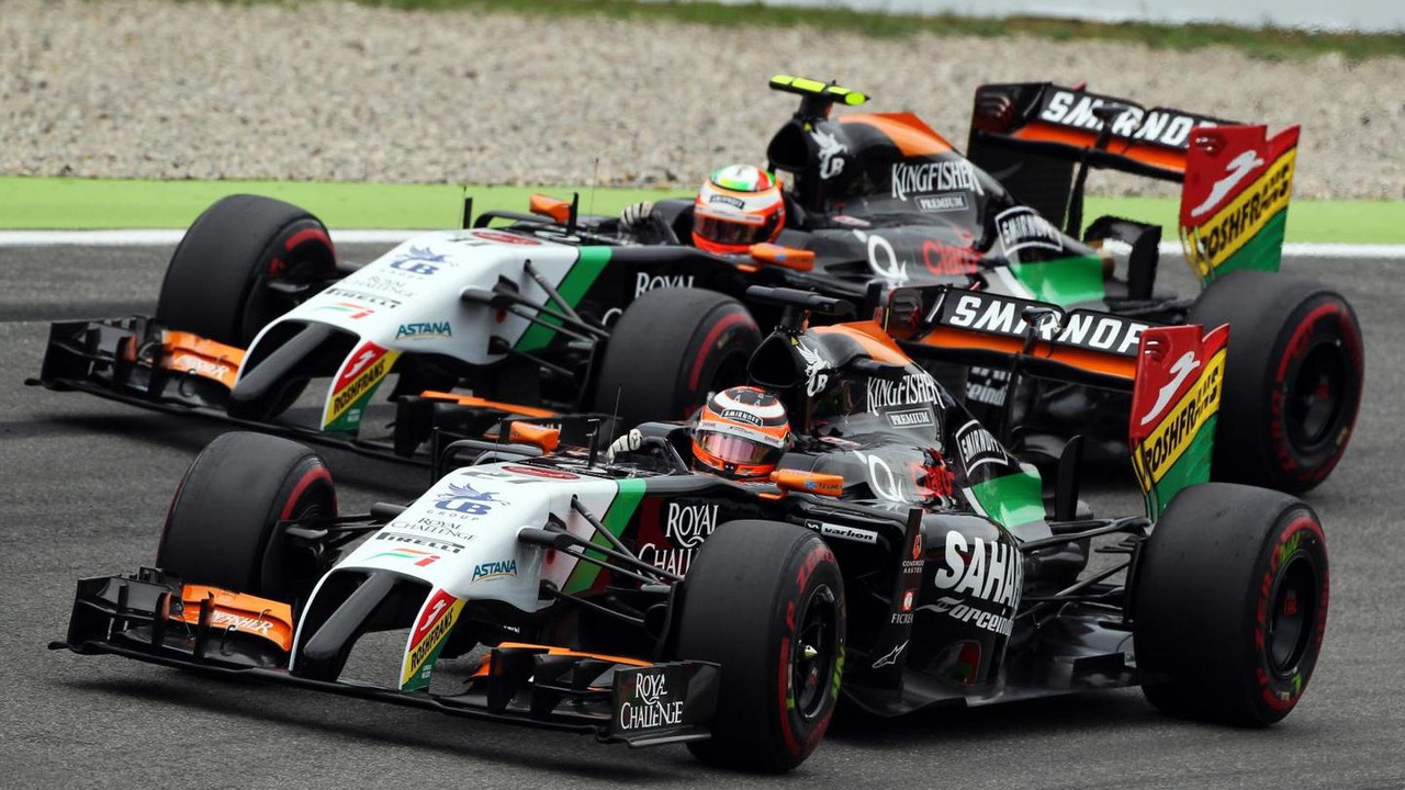 Nico Hulkenberg (GER) leads team mate Sergio Perez (MEX), 20.07.2014, German Grand Prix, Hockenheim / XPB