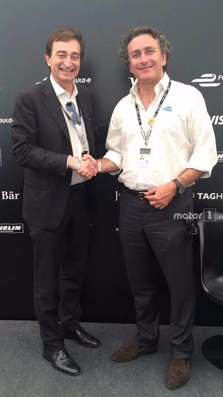 Alejandro Agag, Formula E CEO, and Marco Borradori, Lugano Mayor