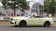 Bentley Continental Supersports Convertible makes public driving debut Goodwood FOS 2010