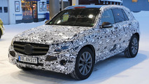Mercedes-Benz GLC spied up close getting a refill