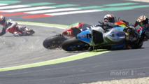 Riders go down