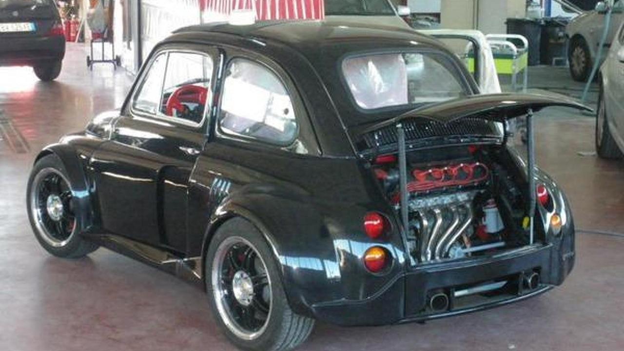 Heavily modified fiat 500 has a lamborghini v12 engine video