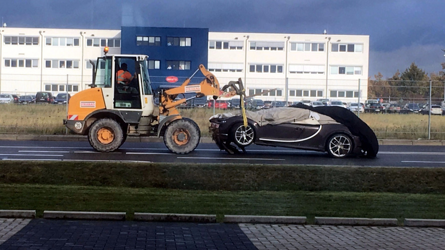 This is the first Bugatti Chiron crash