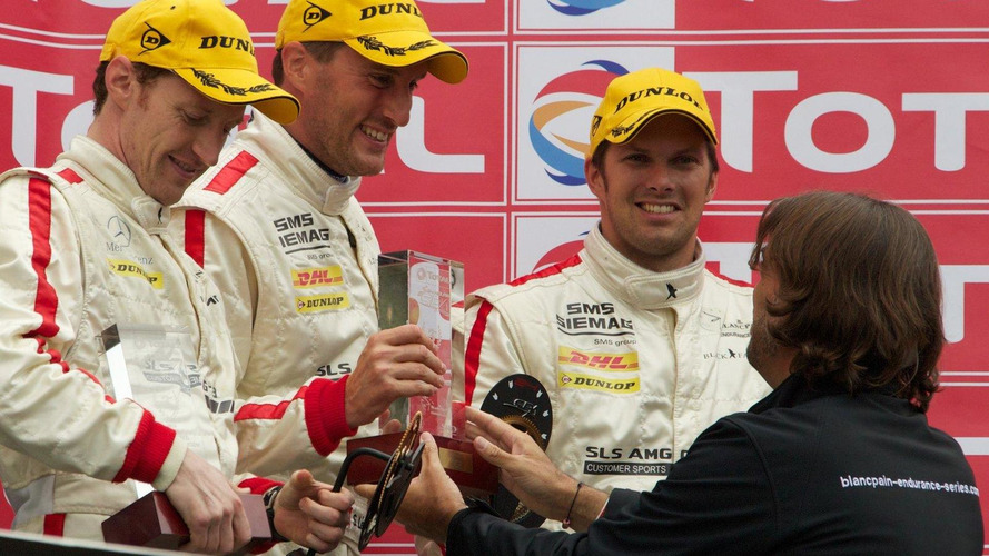 Mercedes-Benz SLS AMG GT3 Black Falcon makes podium at the 24 hours of Spa