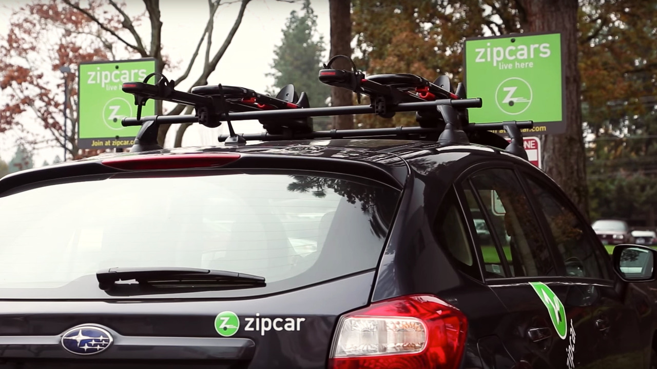 Zipcar adds yakima roof racks for bikes skis and snowboards for City motors of yakima