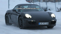Next Generation Porsche Boxster Caught in the Snow