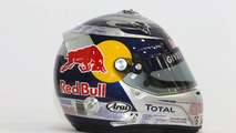 Vettel's helmet resembles Red Bull drink can