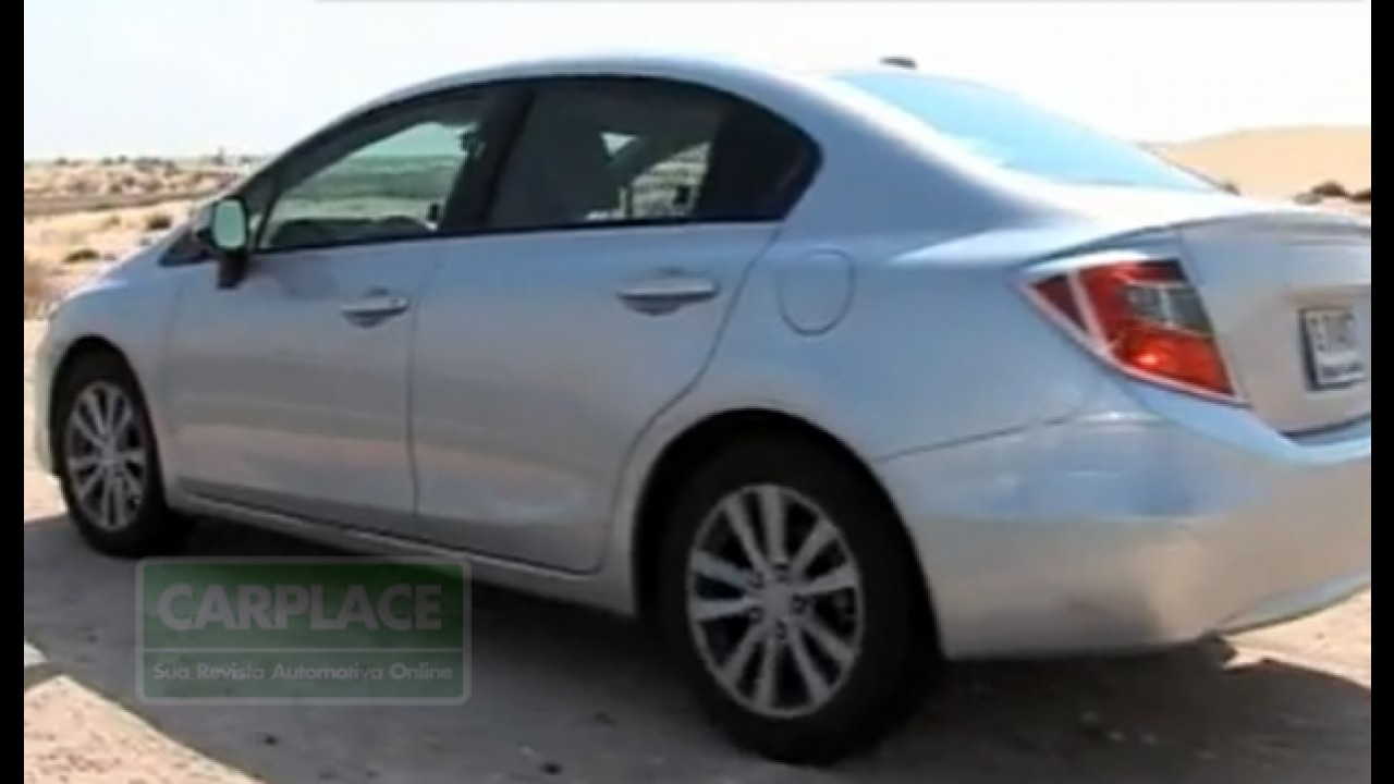 Novo Honda Civic 2012 é flagrado com pouco disfarce! Fotos e Vídeo