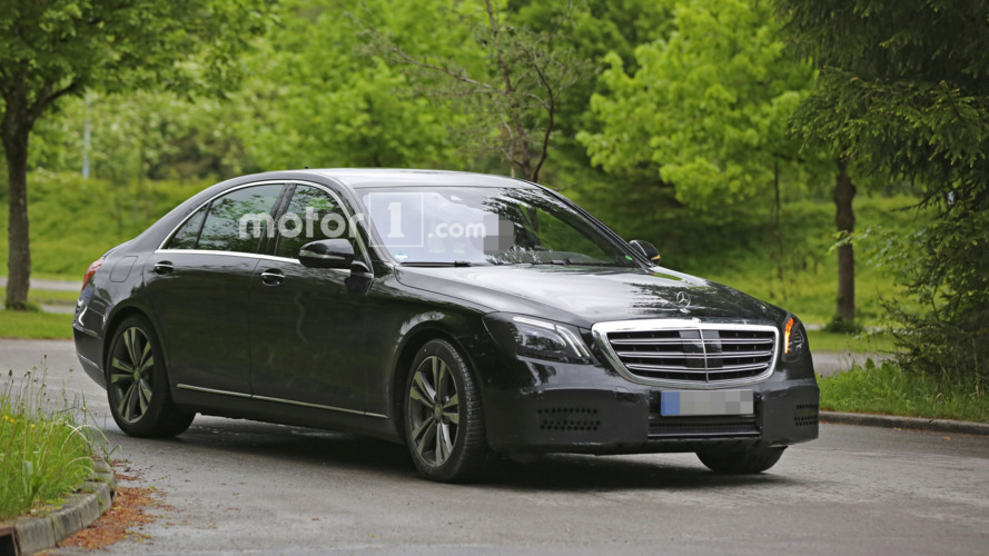 Facelifted Mercedes S-Class spied inside & out