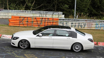2014 Mercedes-Benz S-Class extra-long wheelbase spied testing at Nurburgring