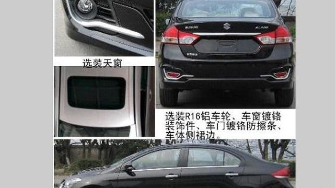 Suzuki Alivio spy photo