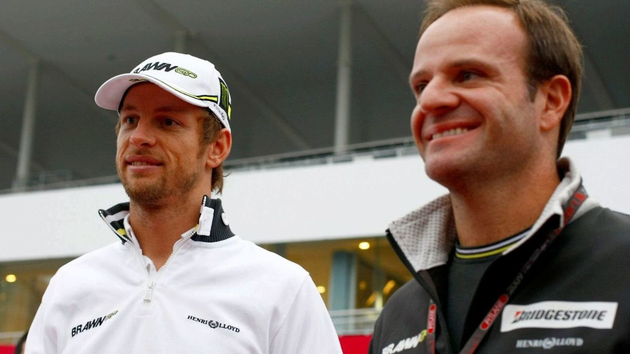 Jenson Button (GBR), Rubens Barrichello (BRA), BrawnGP, Japanese Grand Prix, Suzuka, Japan, 04.10.2009