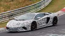 Lamborghini Aventador facelift spied lapping the Nürburgring