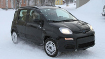 2013 Fiat Panda 4x4 caught in the snow