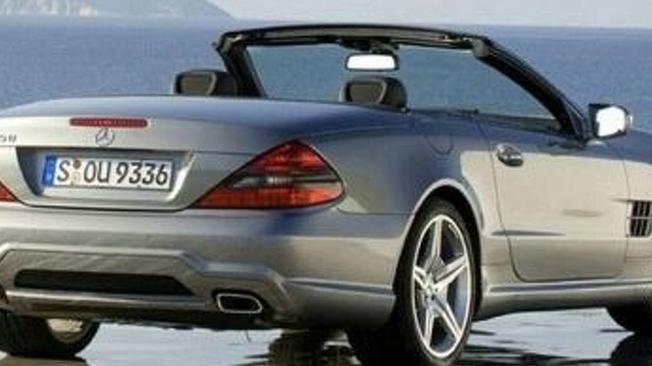 leaked facelifted mercedes sl 350. Black Bedroom Furniture Sets. Home Design Ideas