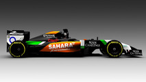 Force India VJM07 first image released - Hulkenberg hopes it's not too slow