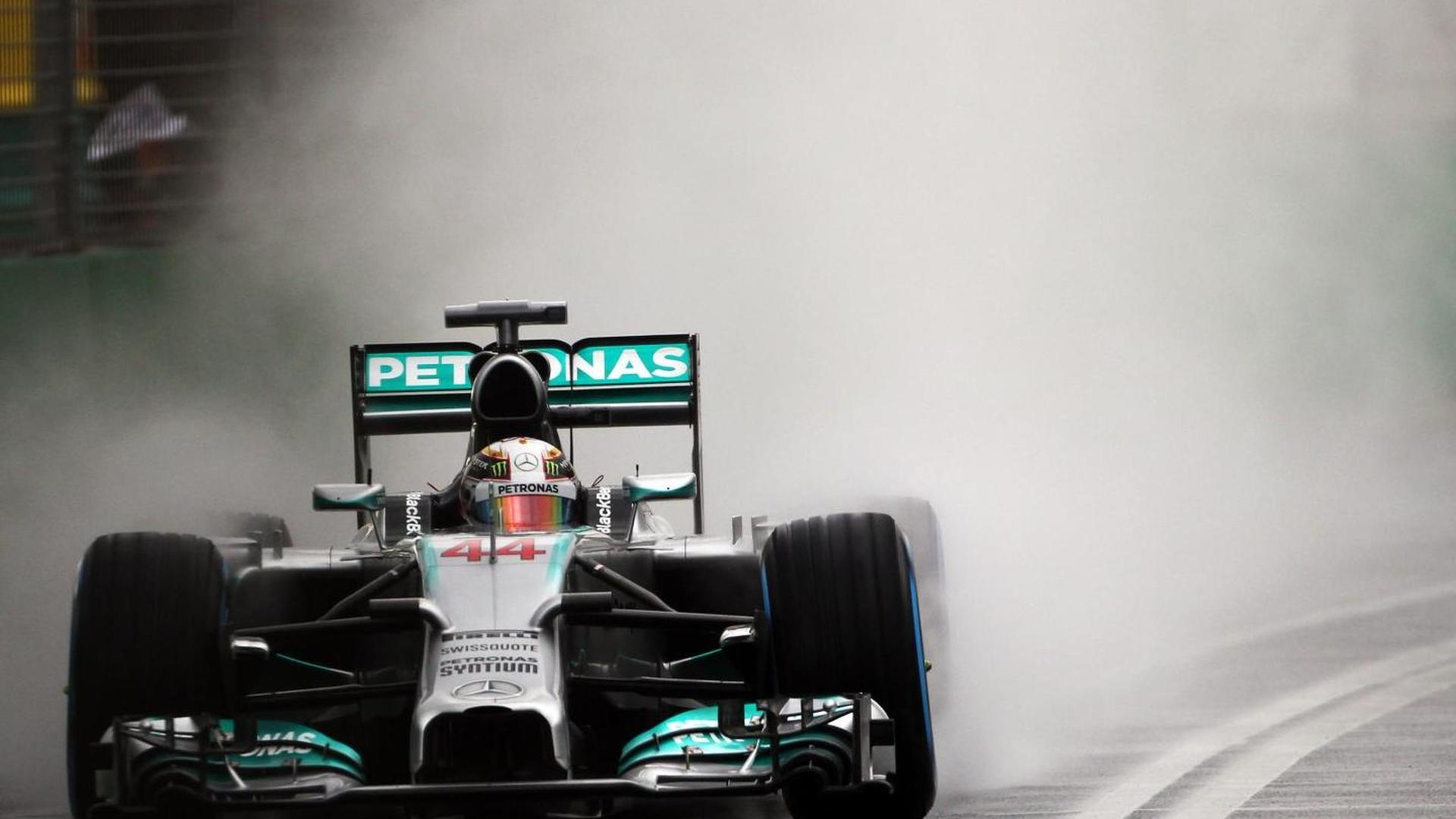 Hamilton's Melbourne engine still firing