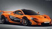 McLaren P1 GTR rendered as road-legal model