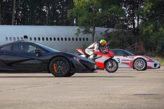 McLaren P1 vs Porsche 918 vs Ducati Drag Race — Who Wins?