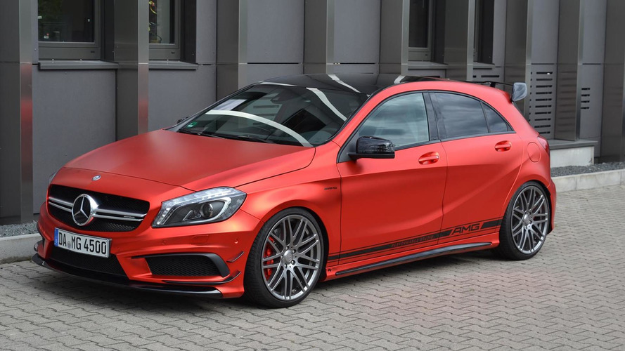 435 PS Mercedes-Benz A45 AMG receives an expensive matte chrome red wrap