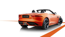 Jaguar F-Type with Firesand exterior and Black Design Packs 29.11.2012