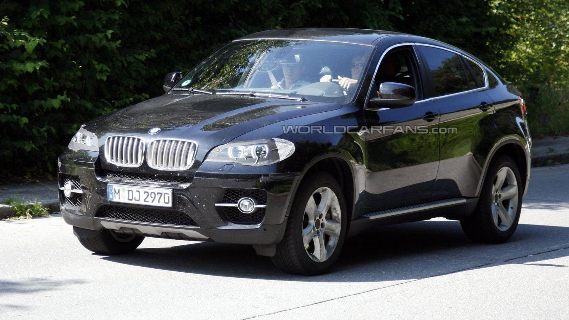2012 BMW X6 facelift shows its new 'angel eyes'