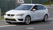Seat Leon ST Cupra spied up close near the Nurburgring