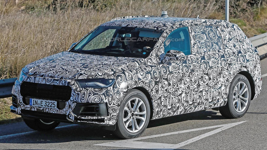 2015 Audi Q7 spied doing handling tests in Spain