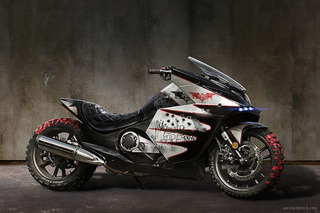 This Batman-Themed Motorcycle Looks Like Something Out of 'Suicide Squad'