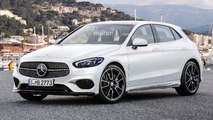 2018 Mercedes A-Class render proposes stylish design