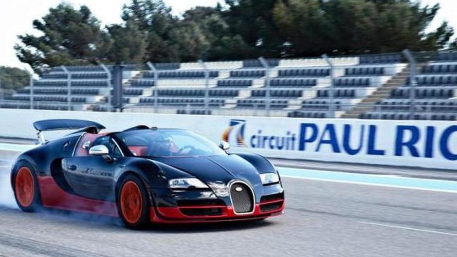 Bugatti Veyrons invade the Paul Ricard Circuit