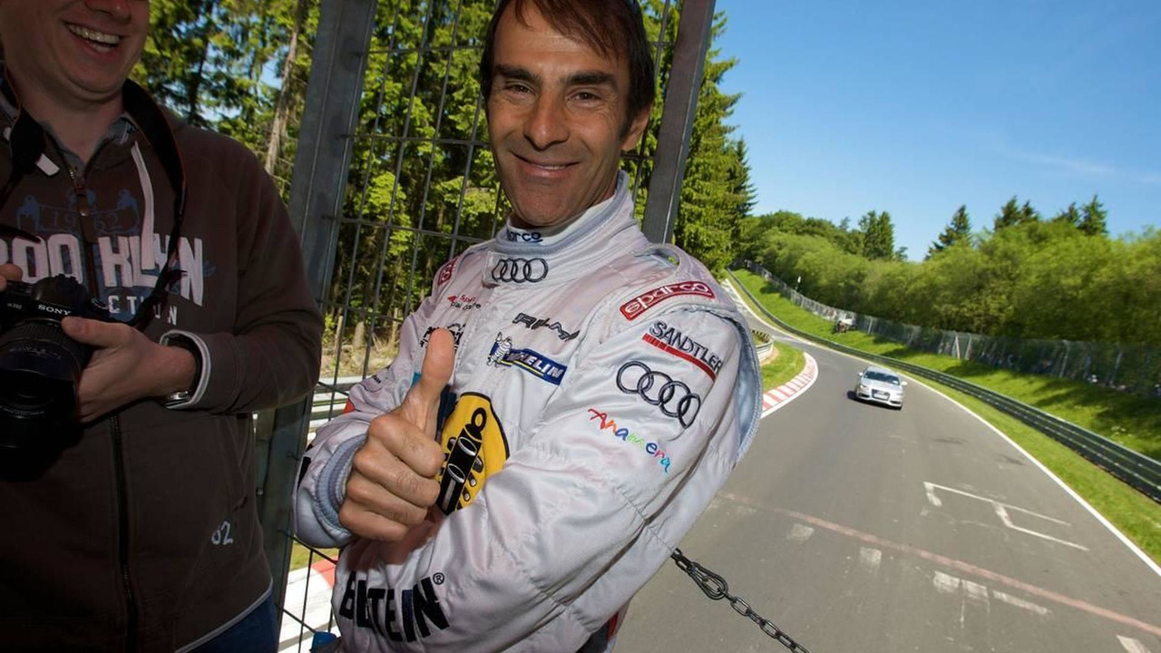 Drivers parade around the track: Emanuele Pirro (I) - Nurburgring 24 Hours 2009, 23.05.2009 Nurburgring, Germany
