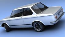 BMW 2002tii 3D rendering