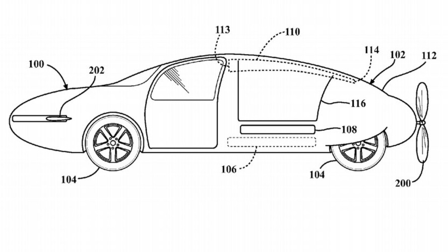 Toyota patents shape-shifting body for a flying car