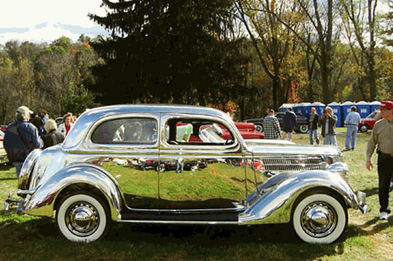 Stainless Steel Ford Tudor Sedan is Old School Bling