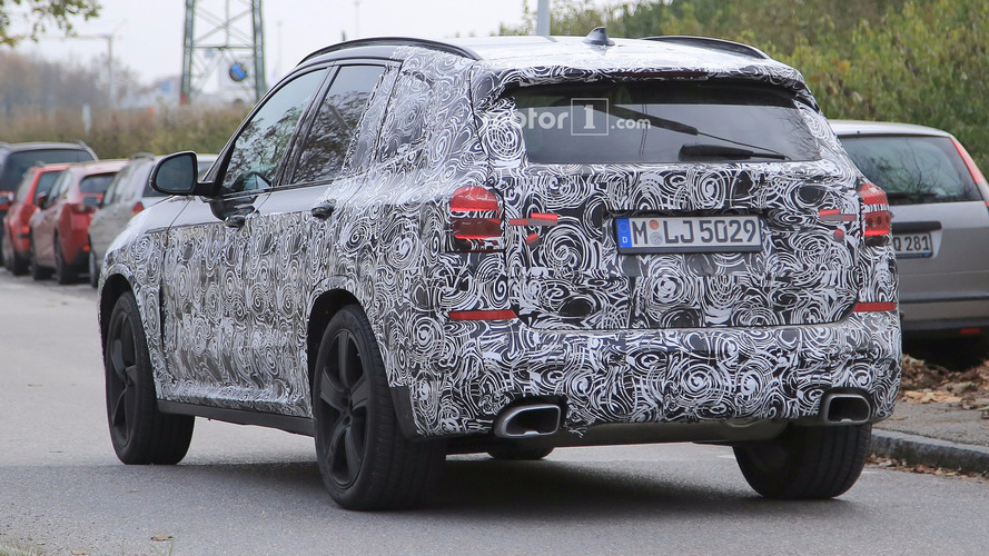 2018 BMW X3 spotted with M Sport Package and fat exhaust tips