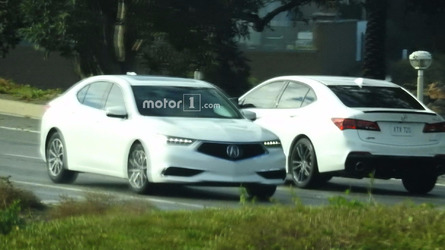 Refreshed 2018 Acura TLX spied undisguised during photoshoot