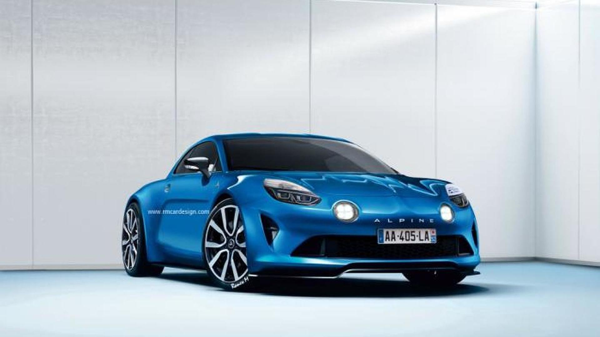 2016 Renault Alpine speculatively rendered based on Celebration concept
