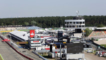 The Hockenheim pits and paddock