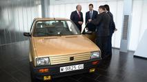 Kind Felipe VI of Spain meets his first vehicle