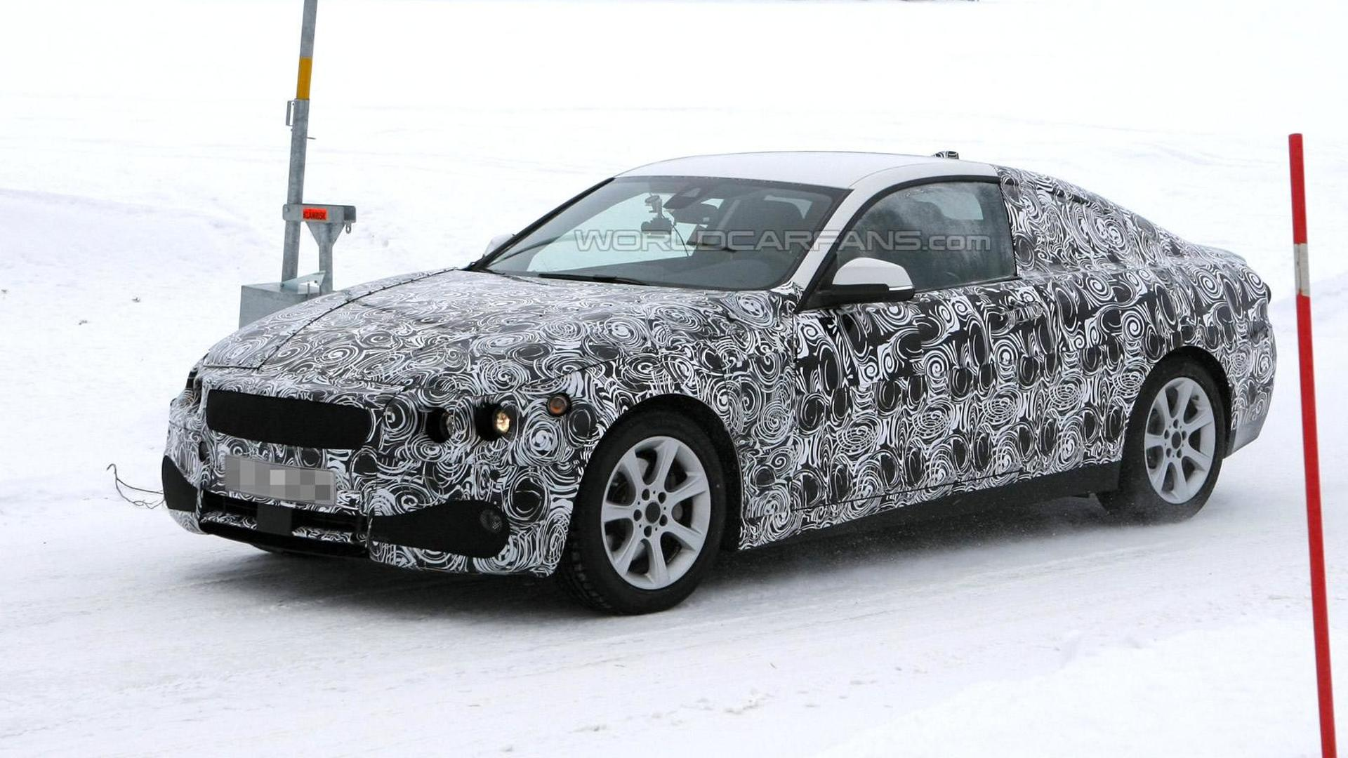 BMW 4-series Coupe spied
