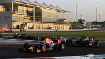 Daniel Ricciardo, Red Bull Racing RB11 at the start of the race