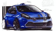Renault Clio RS Gordini artist interpretation