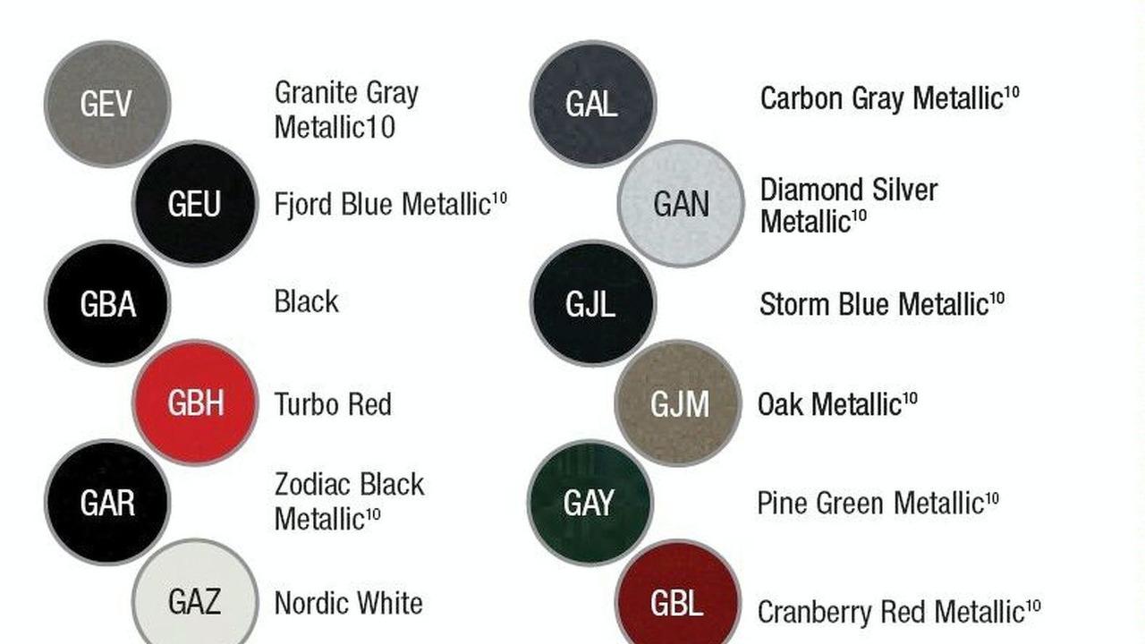 2010 Saab 9-5 colors